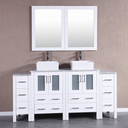 84 Inch Bosconi Aw224cbecm3s Double Vanity Vanity Set With Mirror Vanity Vanity Set