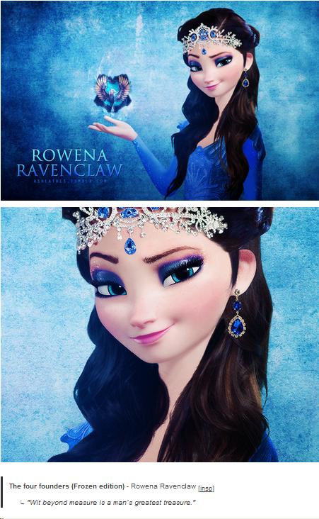 Elsa as Rowena Ravenclaw