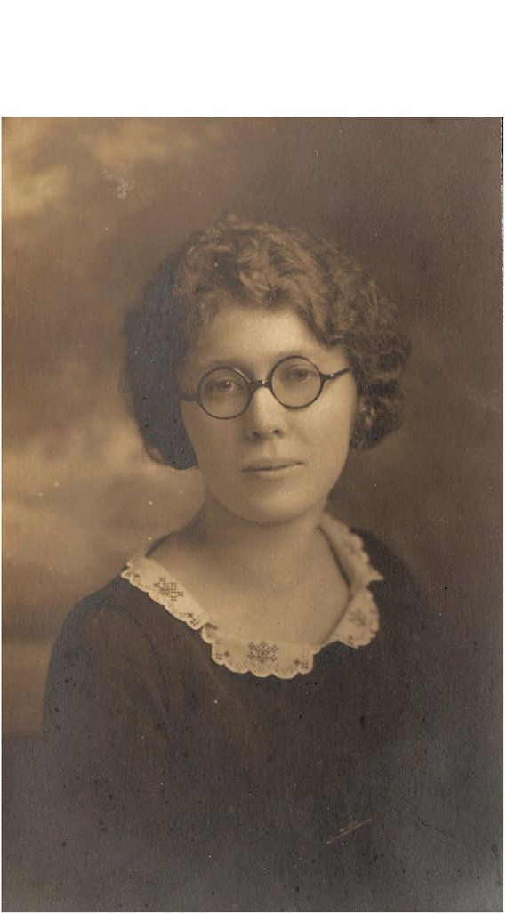 vintage photo of a lady with horn rimmed by vintagewarehouse, $3.00