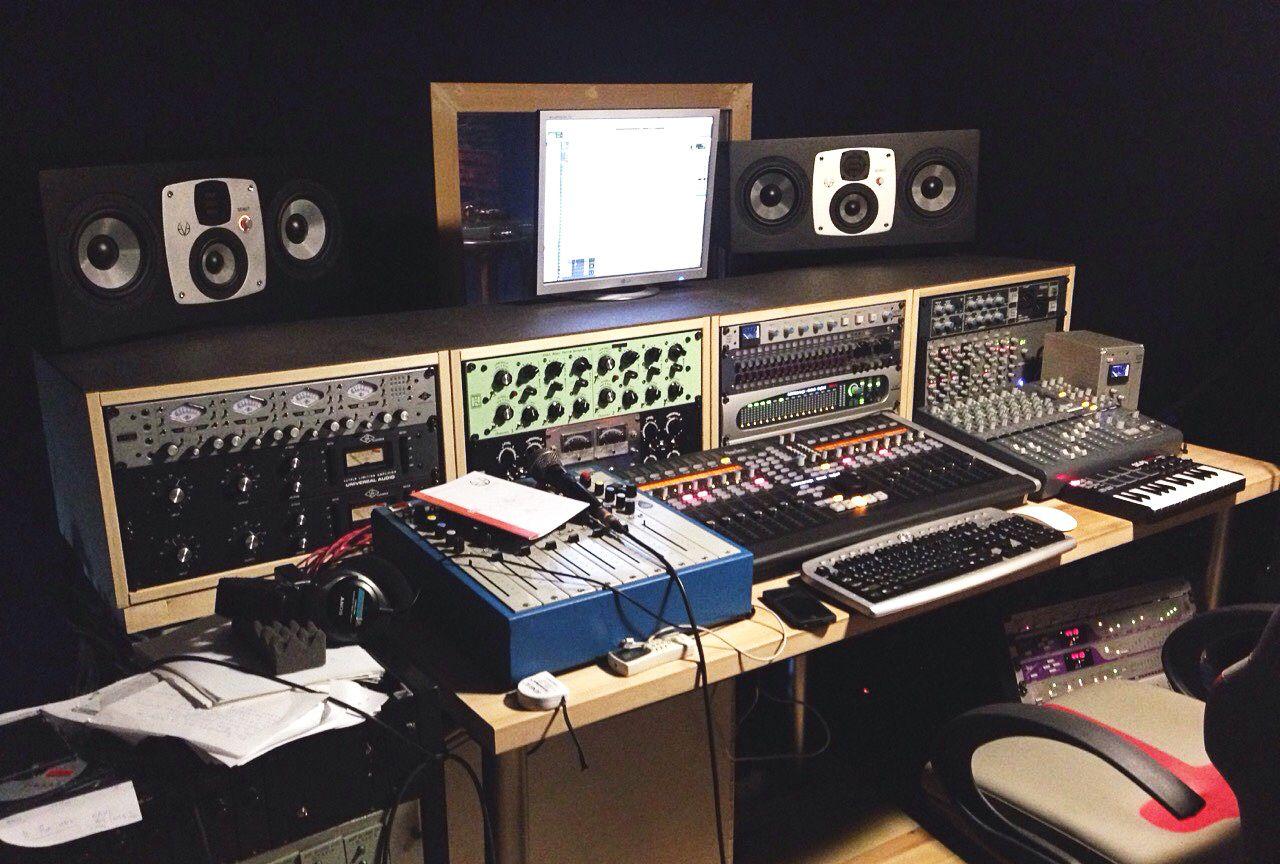 2 x EVE Audio SC407 in the studio of producer Yuriy Smalius in Kiev, Ukraine.
