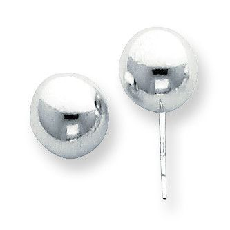 Sterling Silver Polished 10.0mm Ball Earring SS3034