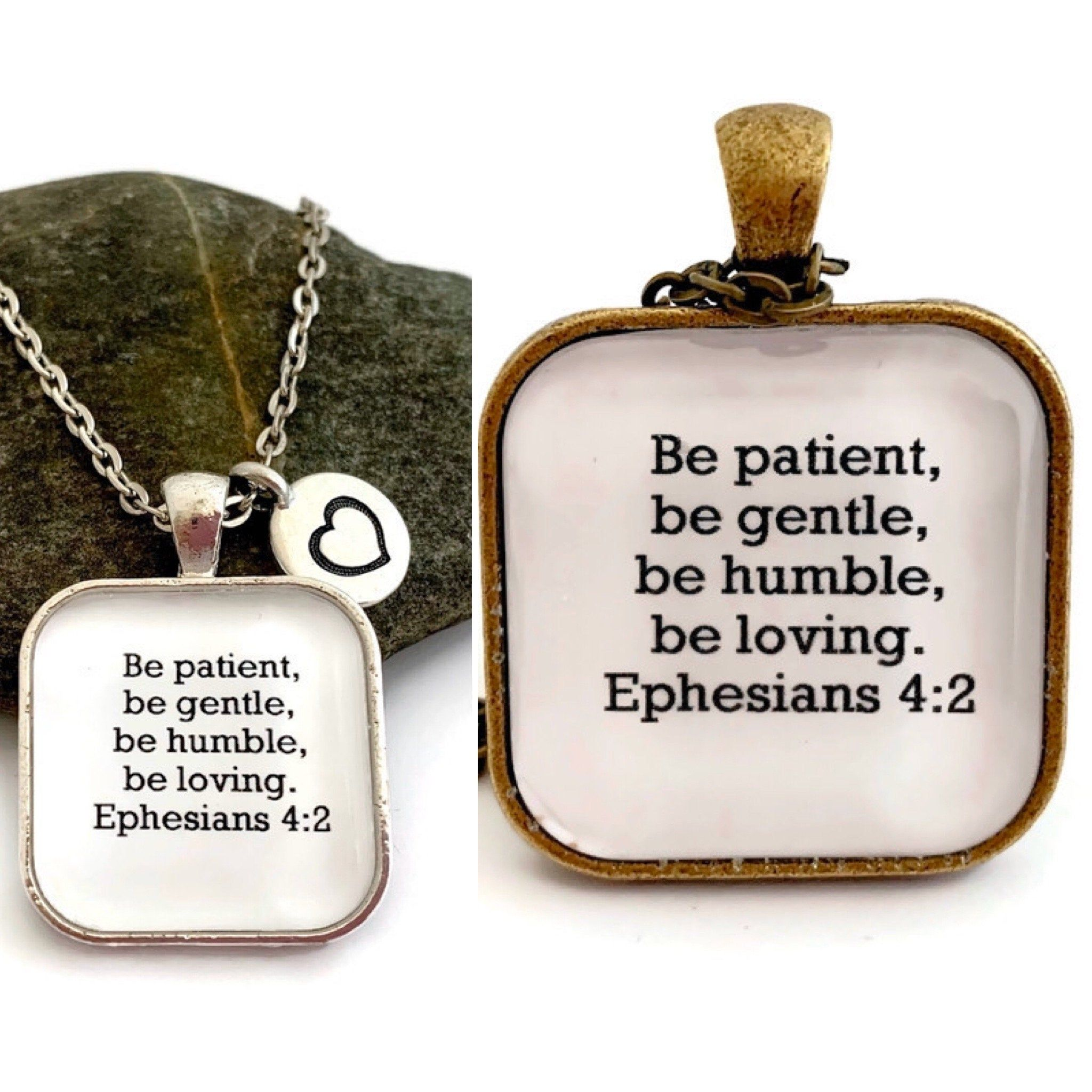 Ephesians 42 inspirational quote necklace christian