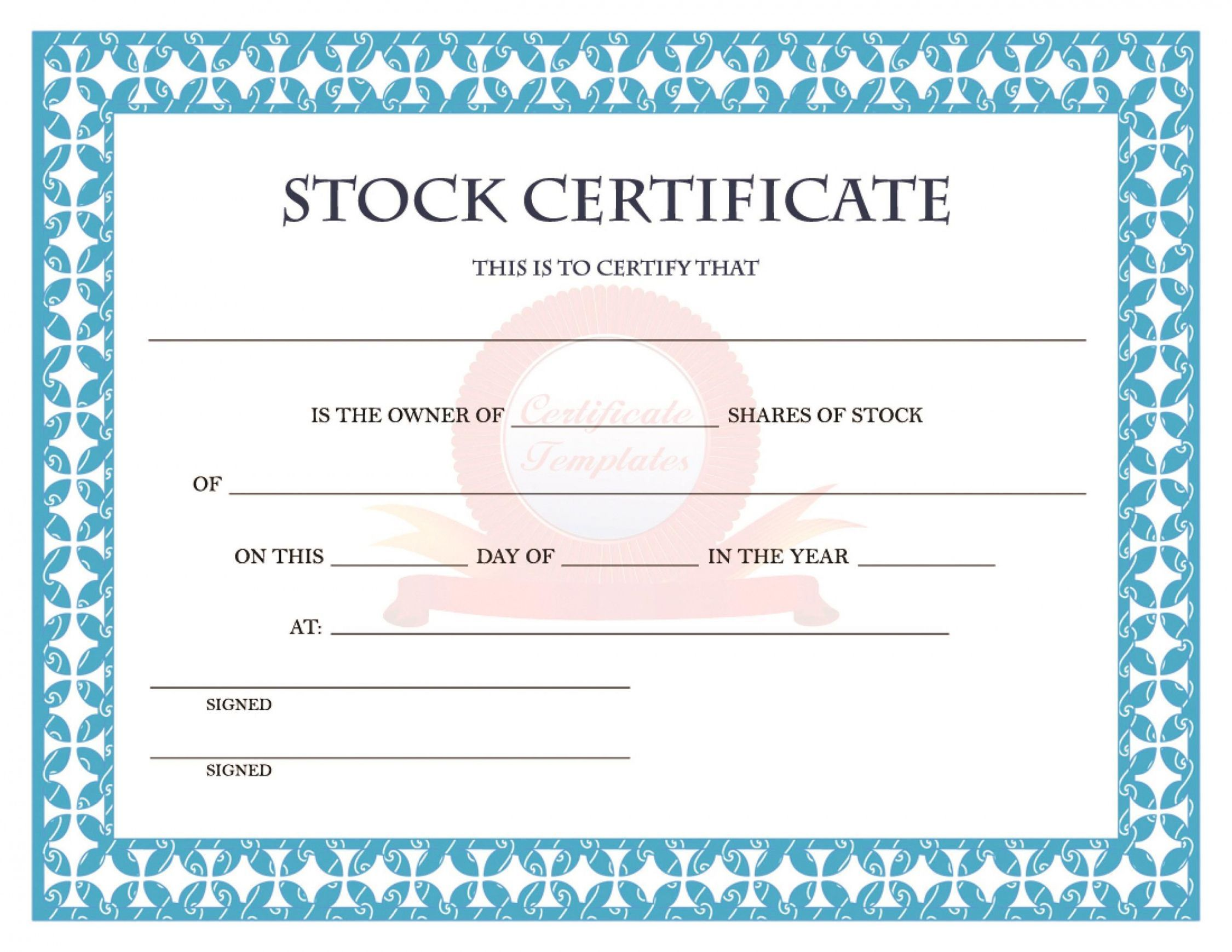 Get Our Image Of Electronic Stock Certificate Template Stock Certificates Certificate Templates Certificate