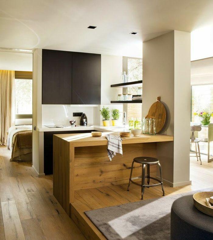 Découvrir la beauté de la petite cuisine ouverte! Kitchenette - comment organiser son appartement