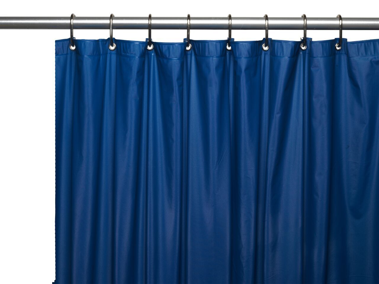 Navy Blue 8 Gauge Extra Heavy Vinyl Shower Curtain Liner With