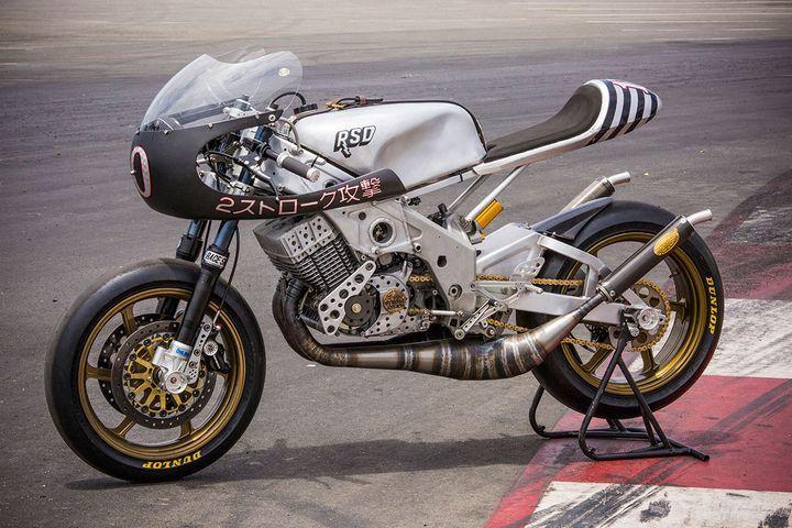 radical! yamaha rd400 cafe racerroland sands design