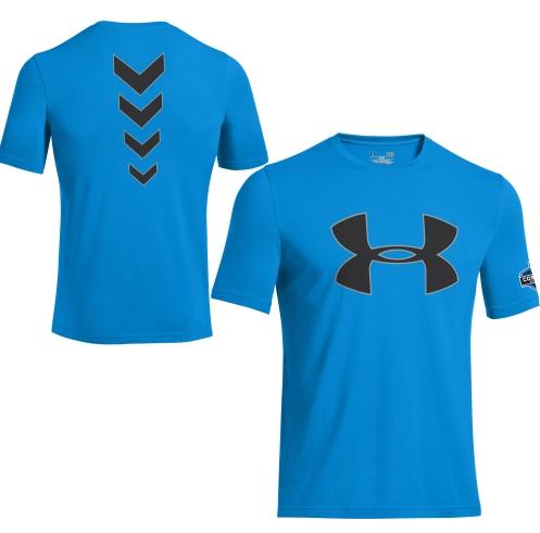 a0ea6621c Under Armour Men's NFL Combine Authentic Big Logo Graphic T-Shirt ...