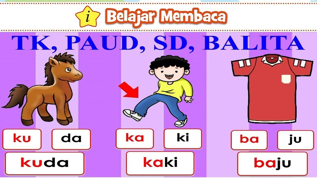 Pin Di Belajar Membaca Abc Indonesia