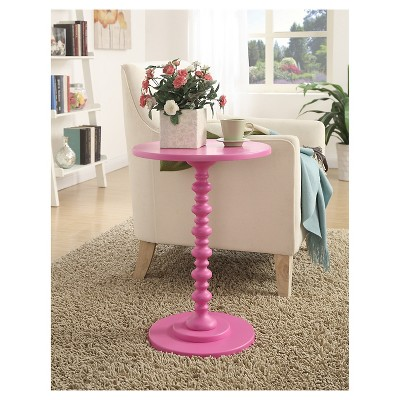 Palm Beach Spindle Table - Pink (Small ) - Convenience Concepts