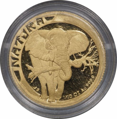 1996 South Africa 1 10 Oz Gold Natura Elephant In Capsule W Coa Gold Elephant Elephant Gold Coins