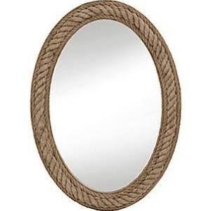 Bassett Mirror Rope Wall Mirror in Jute Rope M3646EC