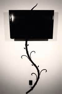 creative ways to hide wall mounted tv wires - Great for teen room