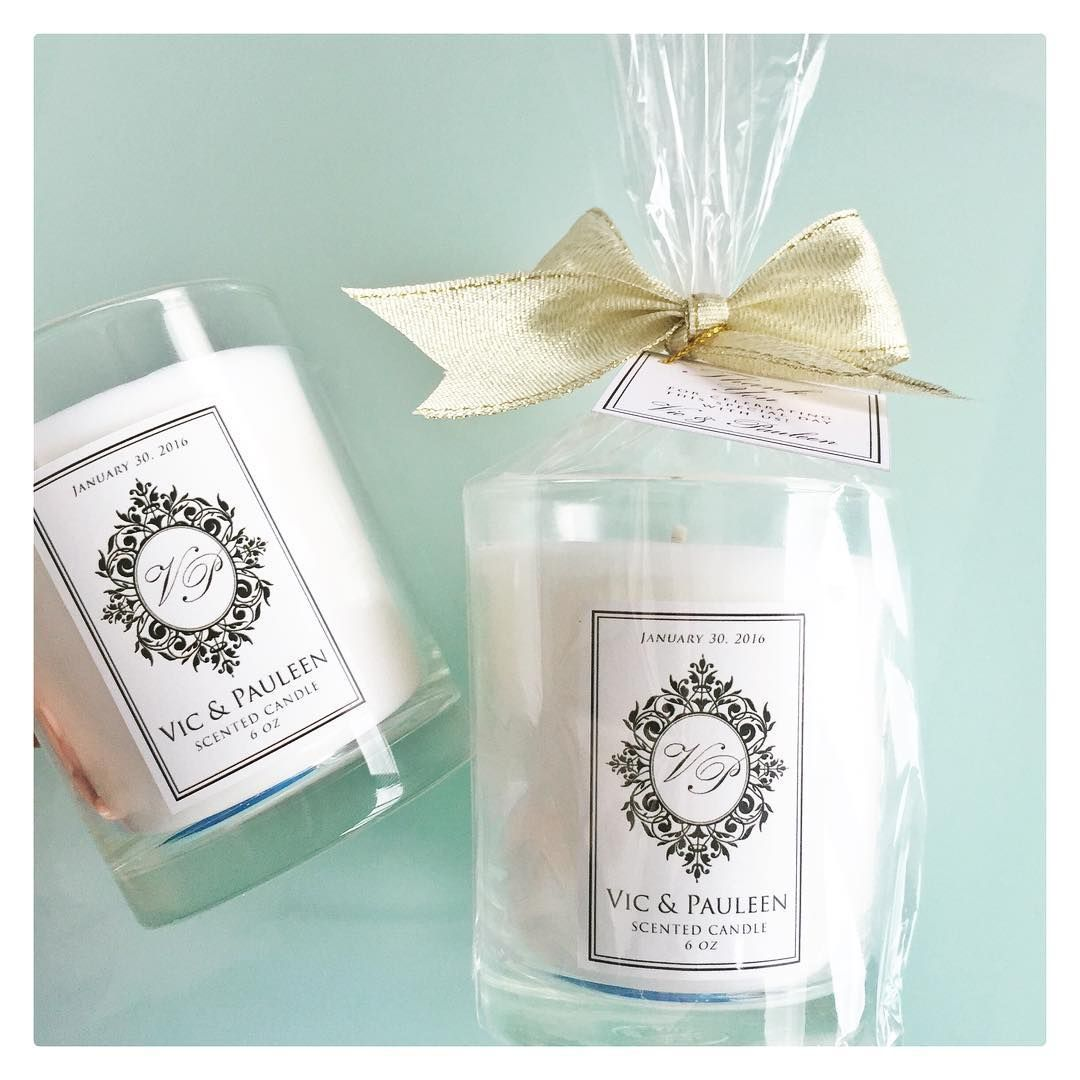 Personalized Home Fragrance Gift Set Favors For The Wedding Of