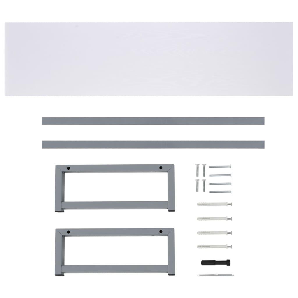 Photo of Bathroom Wall Shelf for Basin White 160x40x16.3 cm