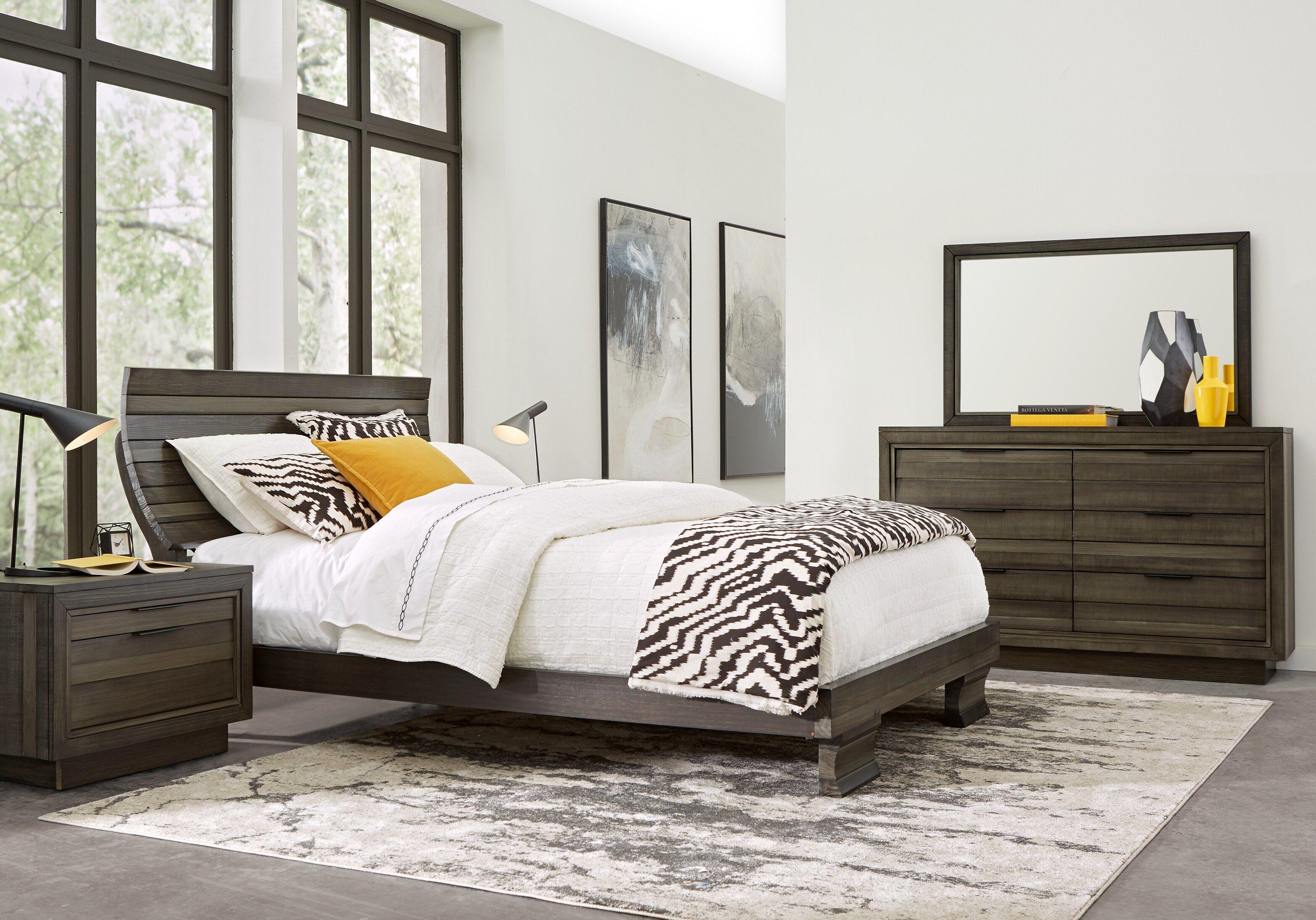 River Street Graphite 5 Pc Queen Scoop Bedroom King Size Bedroom Furniture Sets Bedroom Sets Queen Bedroom Furniture Sets
