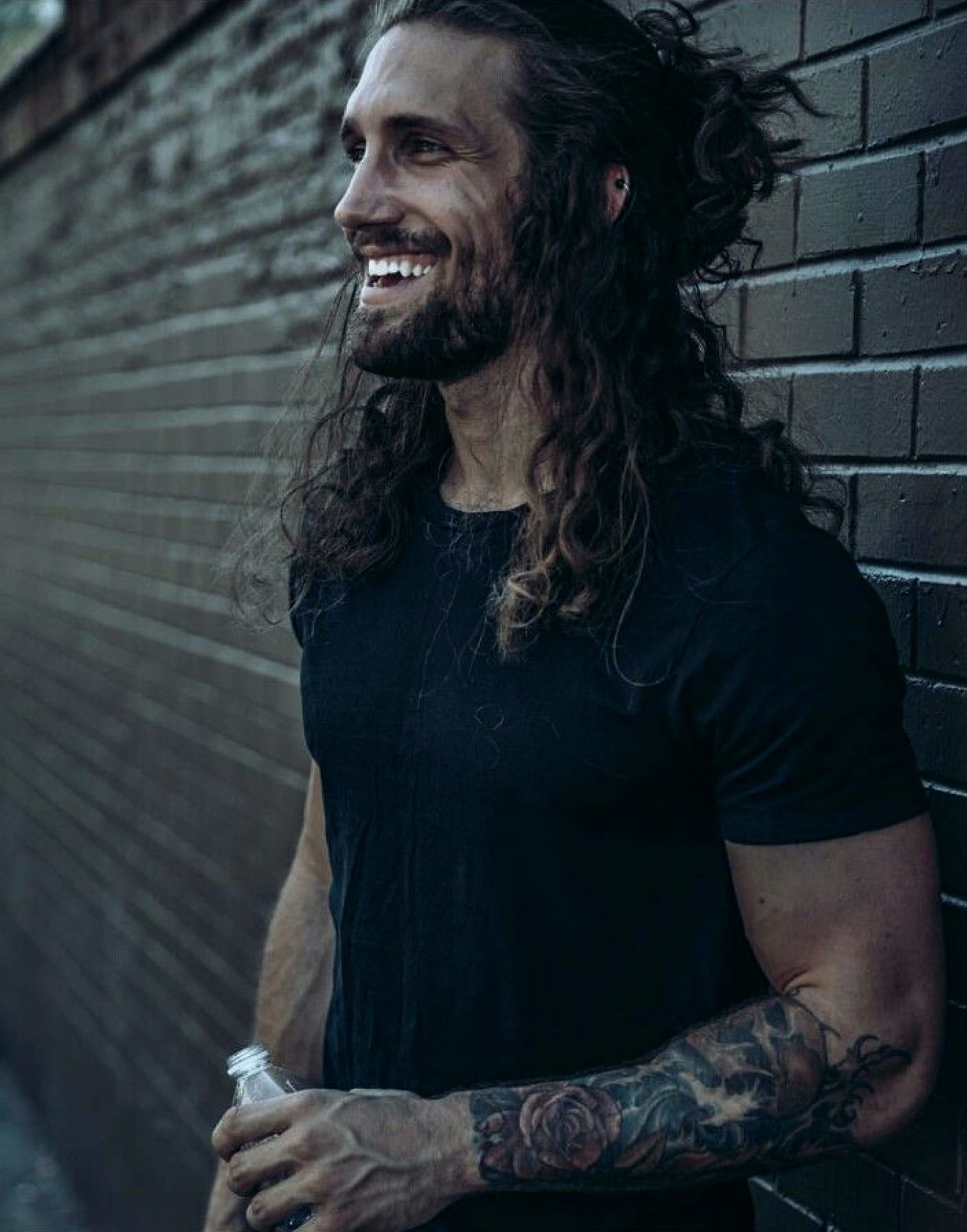 Pin by Regina Peppers on Men With Long Hair Man ponytail