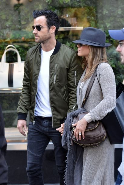 Jennifer Aniston and Justin Theroux Together in NYC