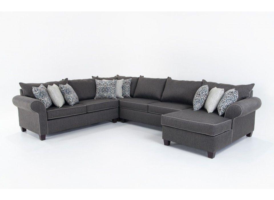 Ashton 4 Piece Left Arm Facing Sectional  Sectionals  Living Inspiration Discount Living Room Sets Design Decoration