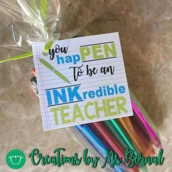 Teacher Appreciation INKcredible Labels #employeeappreciationideas