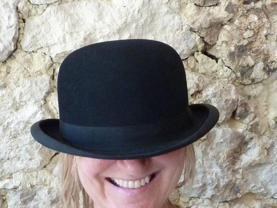 You Can Leave Your Hat On Amazing French Vintage Bowler Etsy French Vintage Vintage Bowler Hat