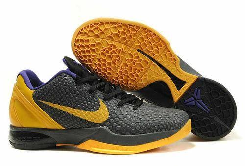 designer fashion 8cfd2 20b19 buy nike zoom kobe 6 black vibrant yellow varsity purple price 82.39 6c6e6  179c8