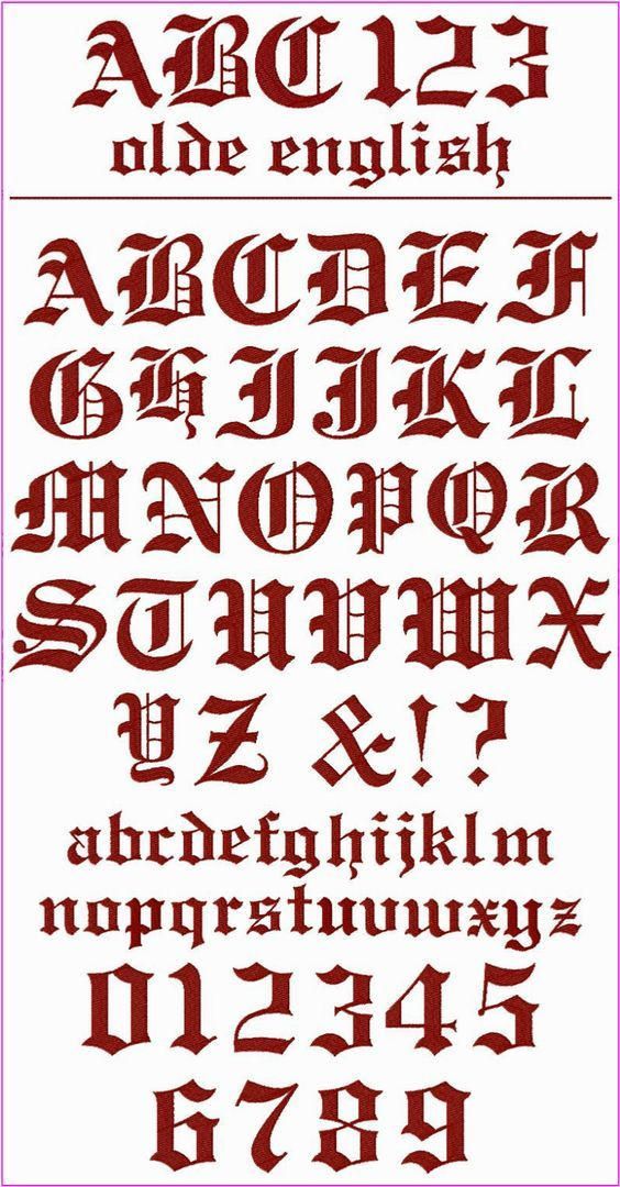 Olde English Font ! ! ! This is a classic font with a