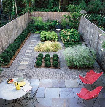 Tiny backyard patio with a