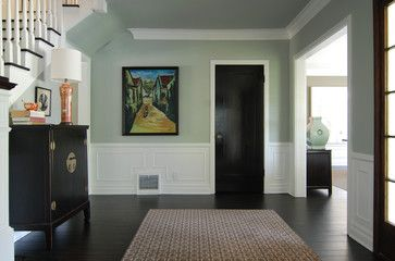 love the black door and the light blue green wall color neutral but rh pinterest com