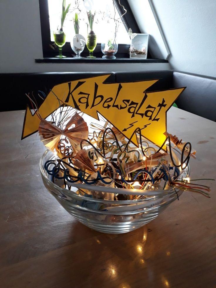Kabelsalat – Geldgeschenk für Elektriker oder Technikfreaks – Hans- PickPin