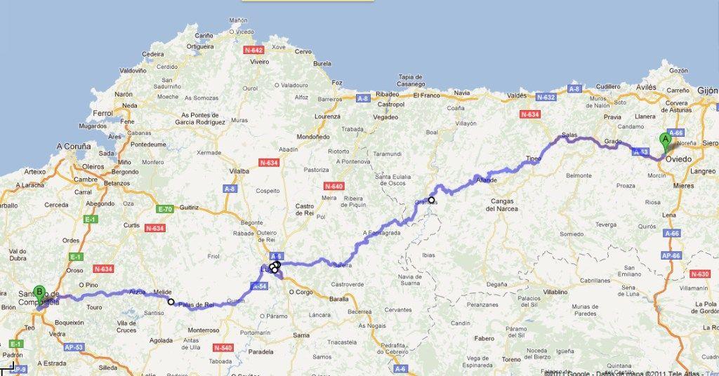 El Camino De Santiago Primitivo Route Camino De Santiago The