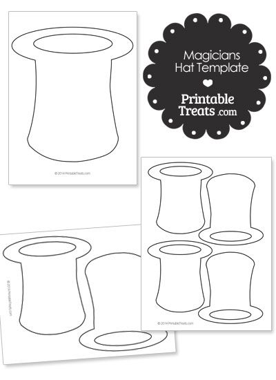Printable Magicians Hat Shape Template Hat Template The