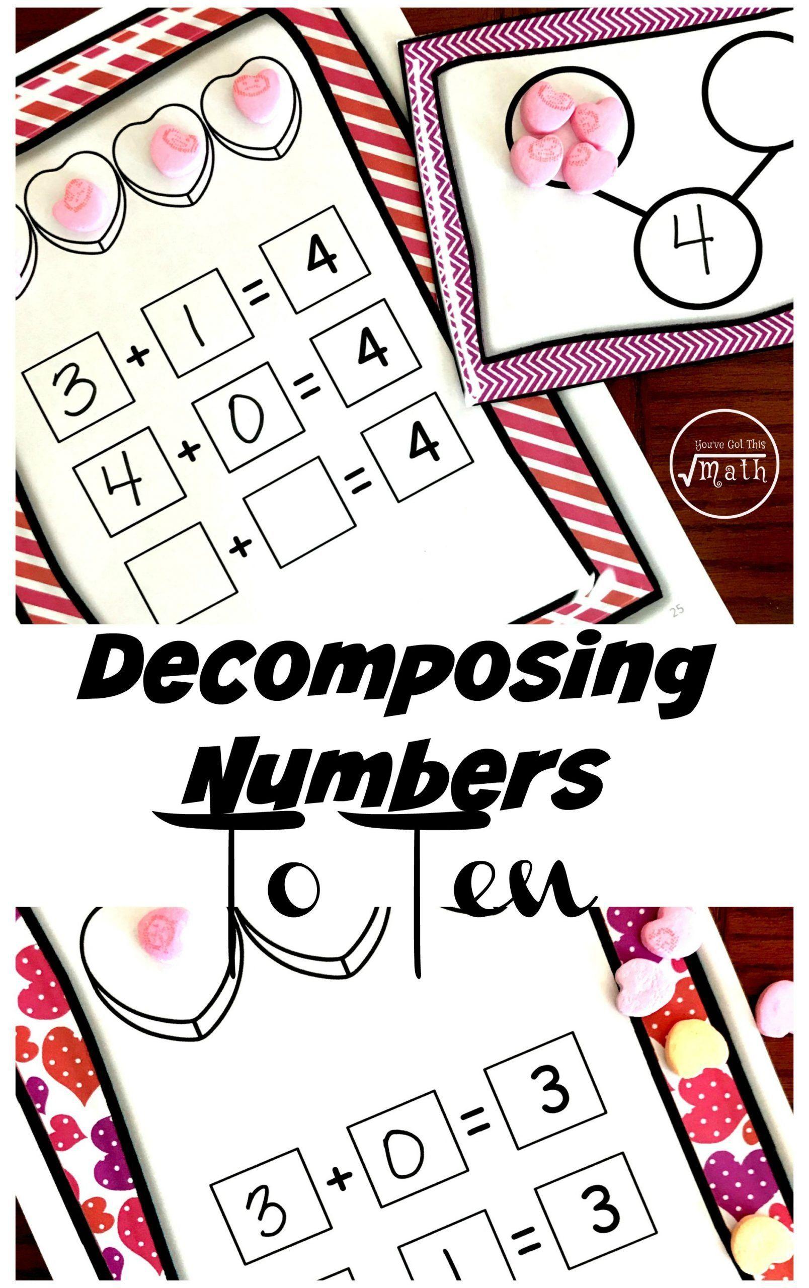 Kindergarten Decomposing Numbers Worksheets Eight Free De