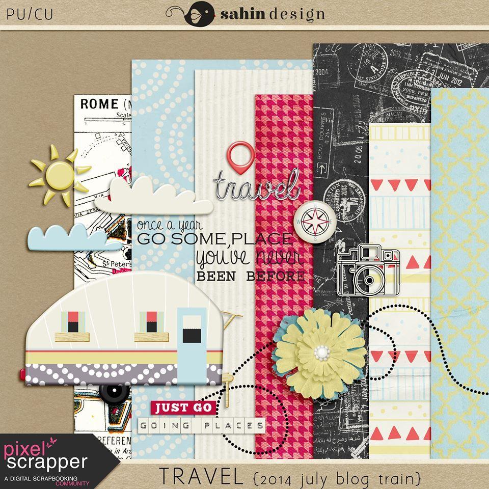 Quality DigiScrap Freebies: Travel mini kit freebie from Sahin Design