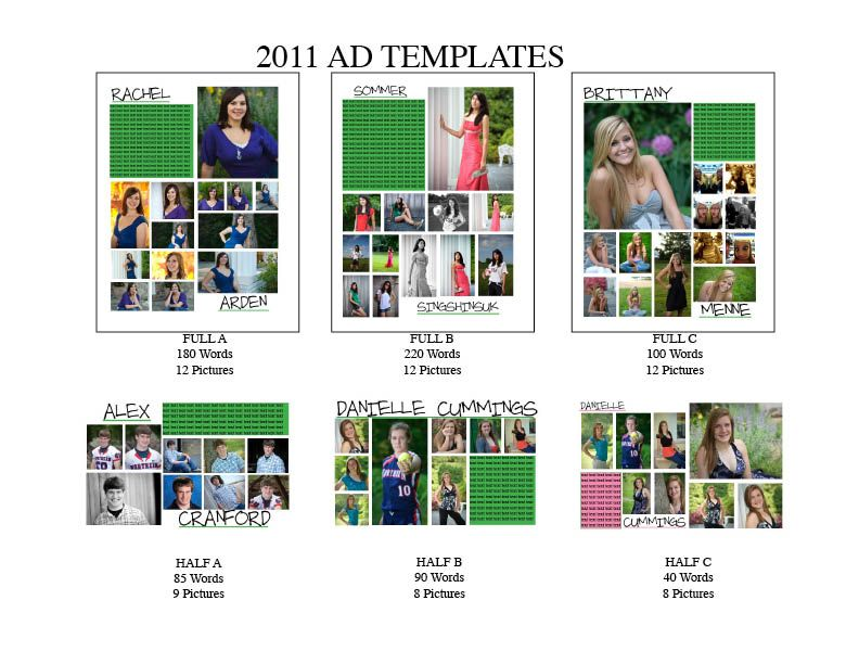 Senior Ad Templates So Much Better Then What We Are Doing Now