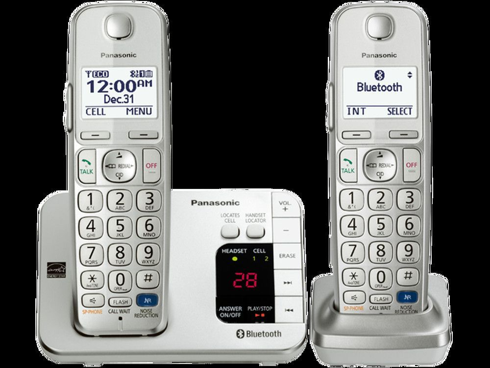 Panasonic Dect 6 0 Link2cell Bluetooth Phone System Cordless Telephone Cordless Phone Telephones