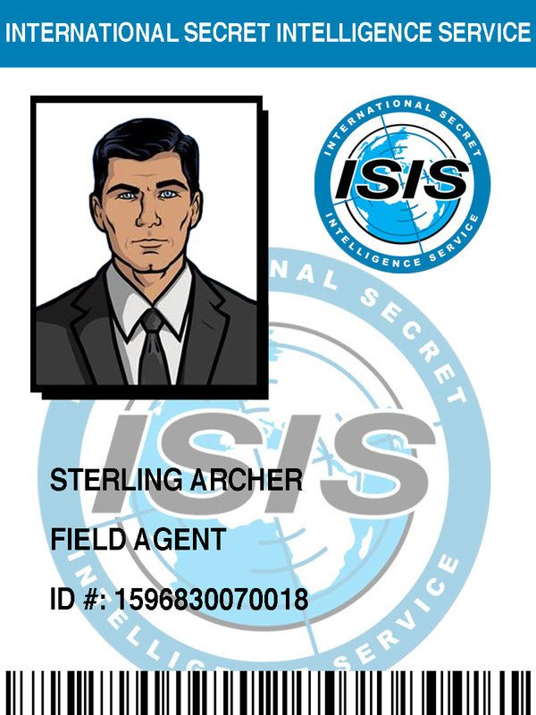 ISIS Badge: Sterling Archer by pinkfizzypops on deviantART ...