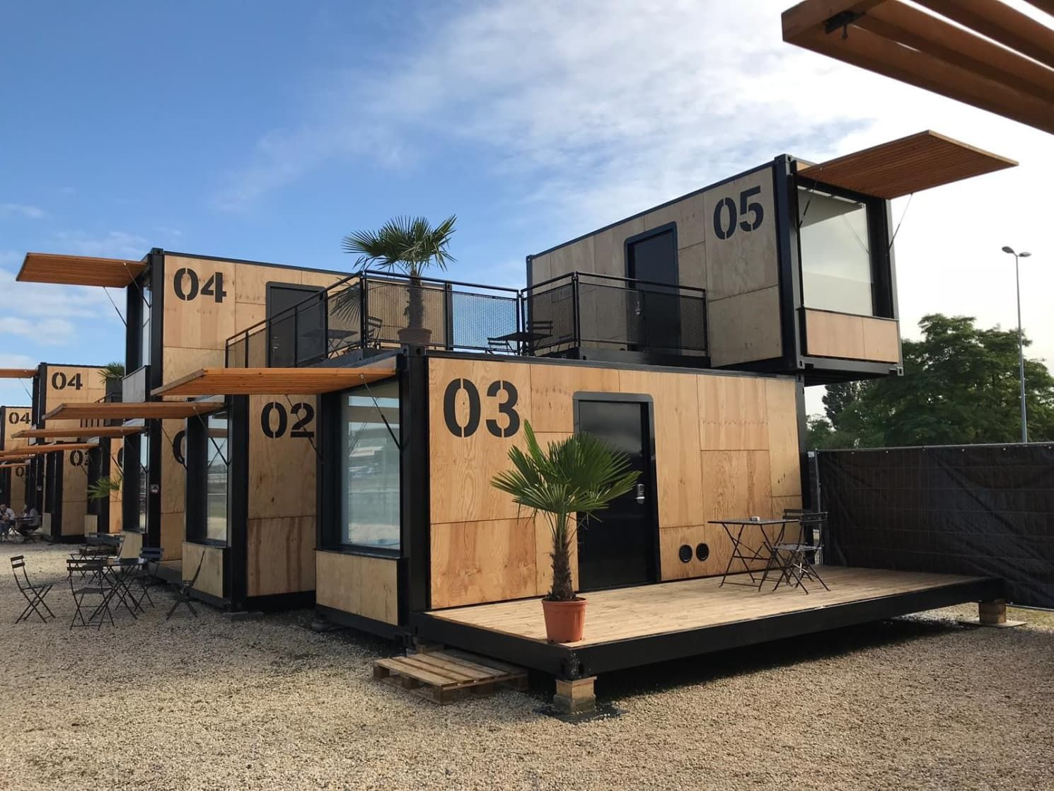 These Wooden Pop-Up Hotel Rooms Are Made of Eco-Friendly Shipping Containers