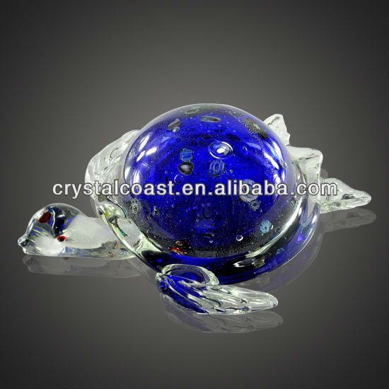 Cheap Artistic Large Turtle Shaped New Colorful Antique Murano Glass