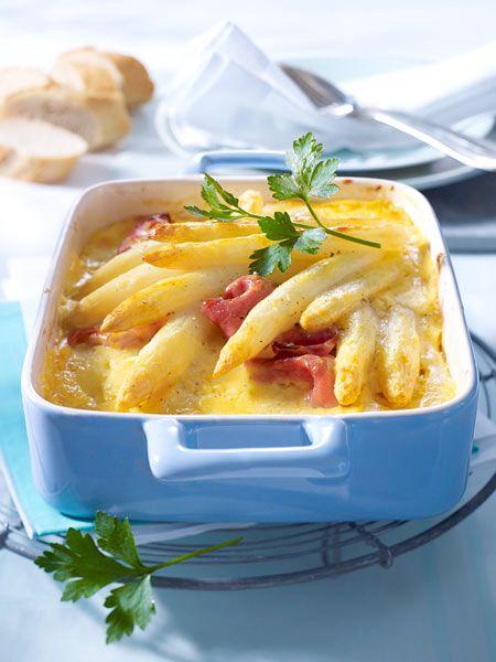 Spargel-Lasagne mit Ei-Hollandaise – Rezept