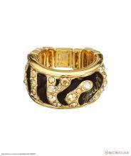 Златист дамски пръстен на Guess с камъни