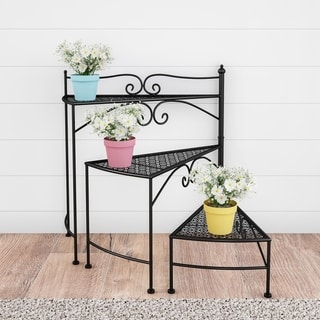 Best Plant Stand 3 Tier Folding Spiral Stairs Wrought Iron 400 x 300