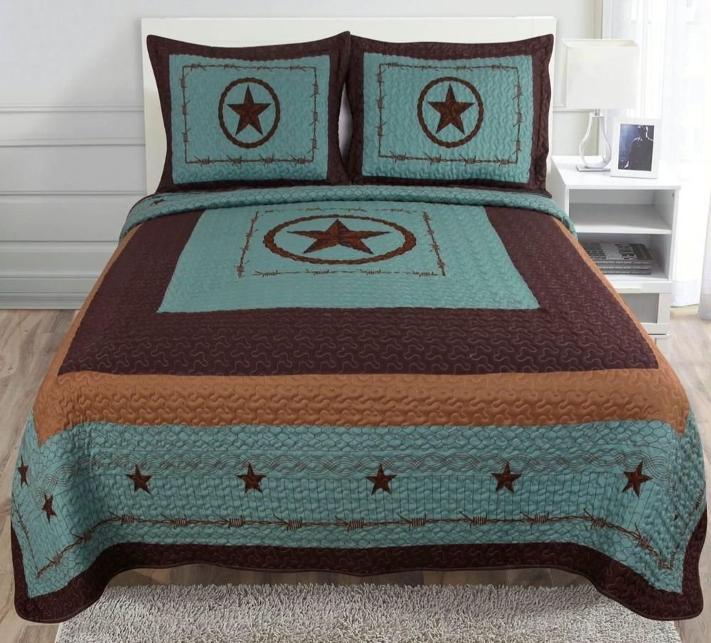 Rustic King Comforter Set Country Western Texas Star