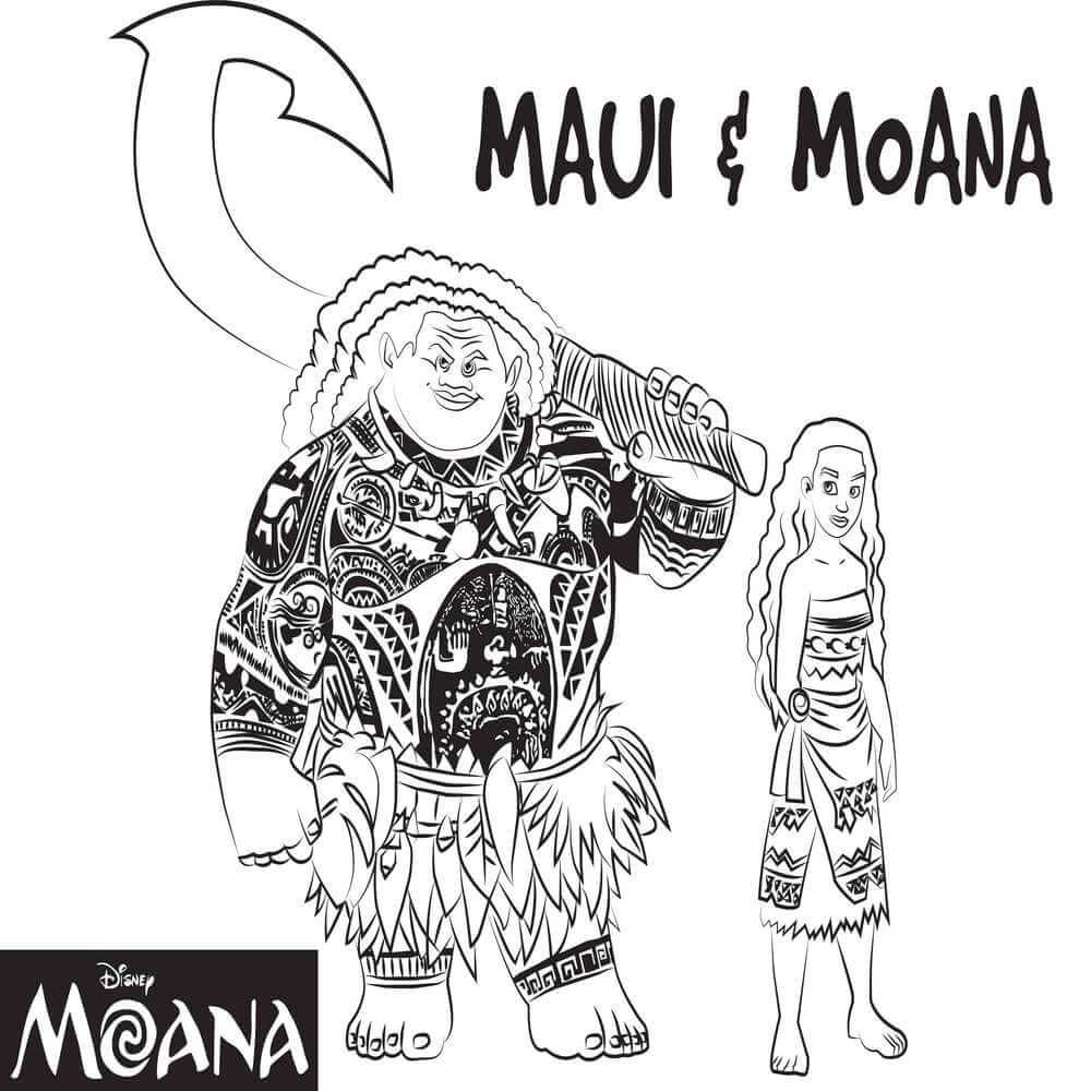 Top 10 Moana Coloring Pages- Free Printables