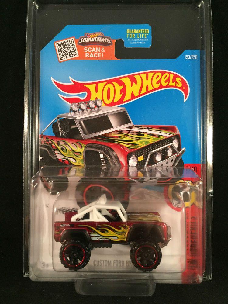 2016 Hot Wheels Mainline Daredevils Custom Ford Bronco Red 153