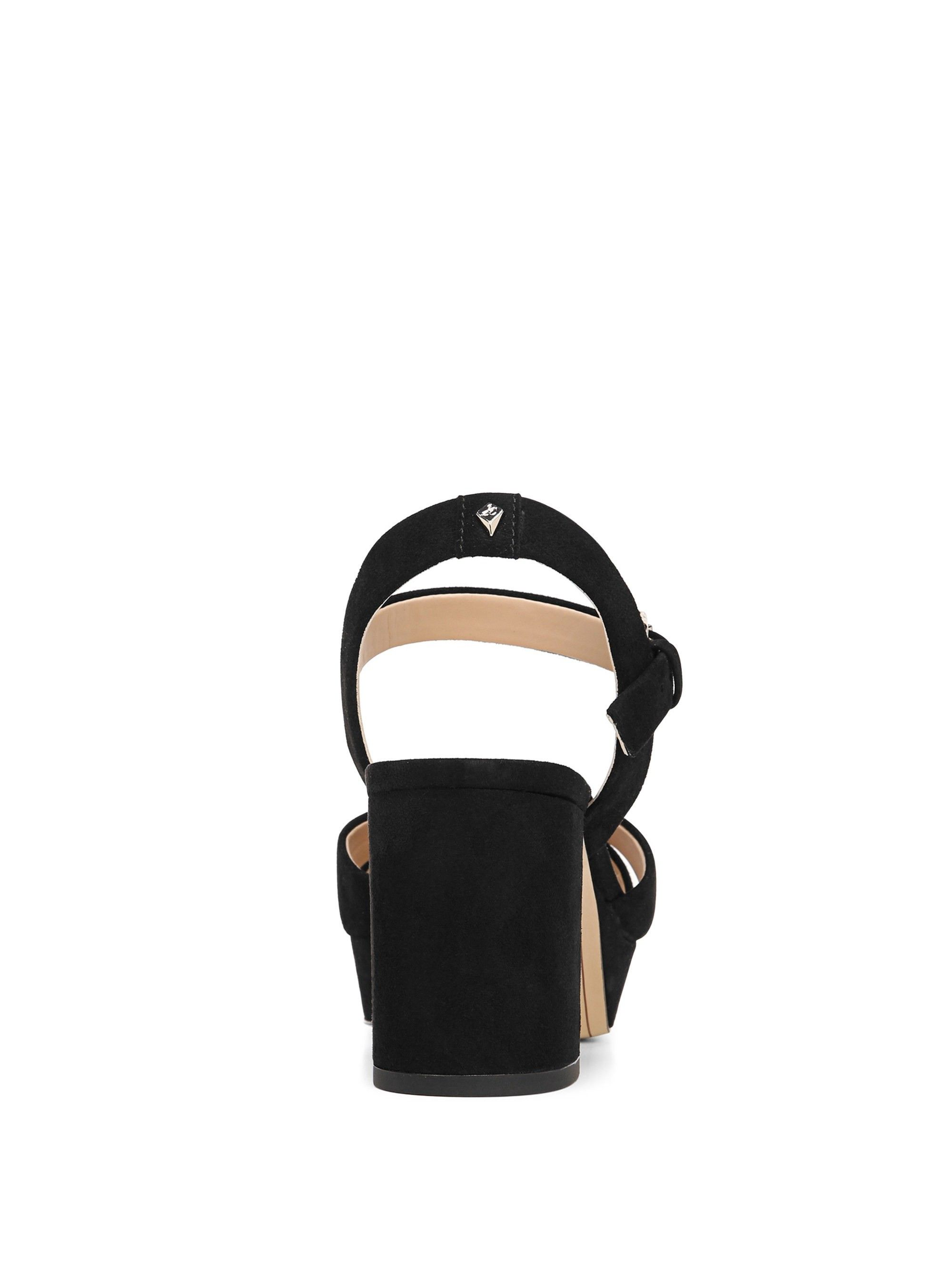 a7edff3c304 Sam Edelman Jolene Suede Platform Ankle-Strap Sandals - Black 6.5