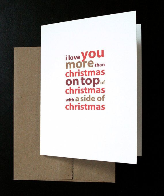 Christmas Love Card I Love You More Than Christmas By Allotria