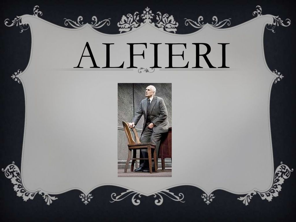 Alfieri from a view from the bridge essays