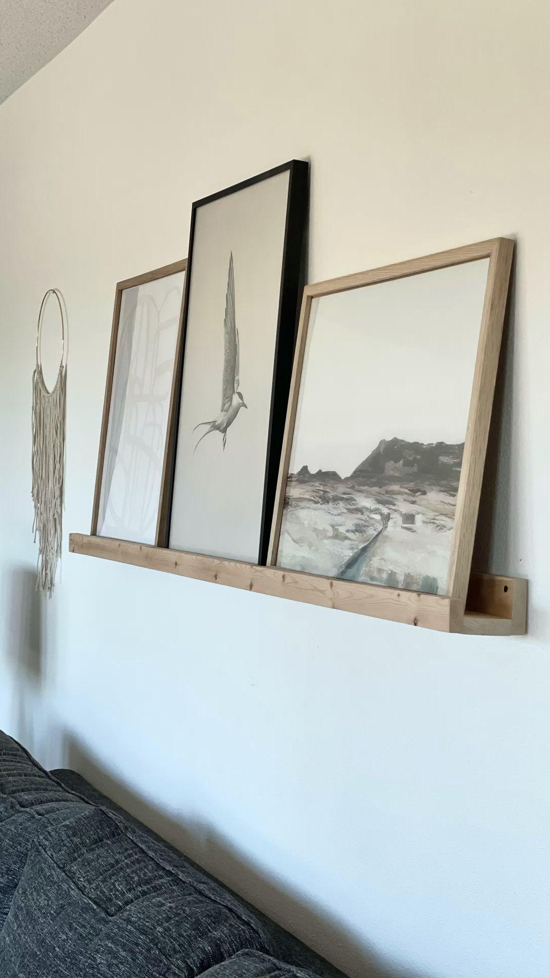 400+ DIY Photo Ledge Shelf