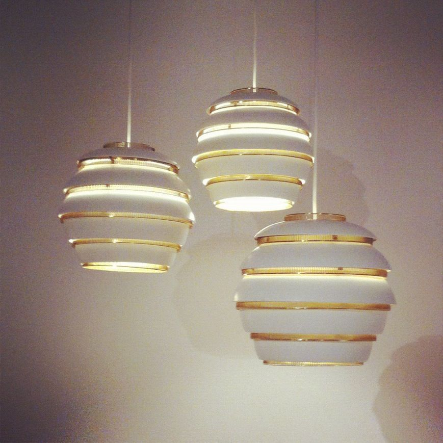 Cluster Of Three Beehive Light Fixtures