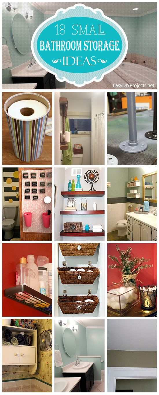 18 Small Bathroom Storage Ideas   Http://www.hgtvdecor.com/